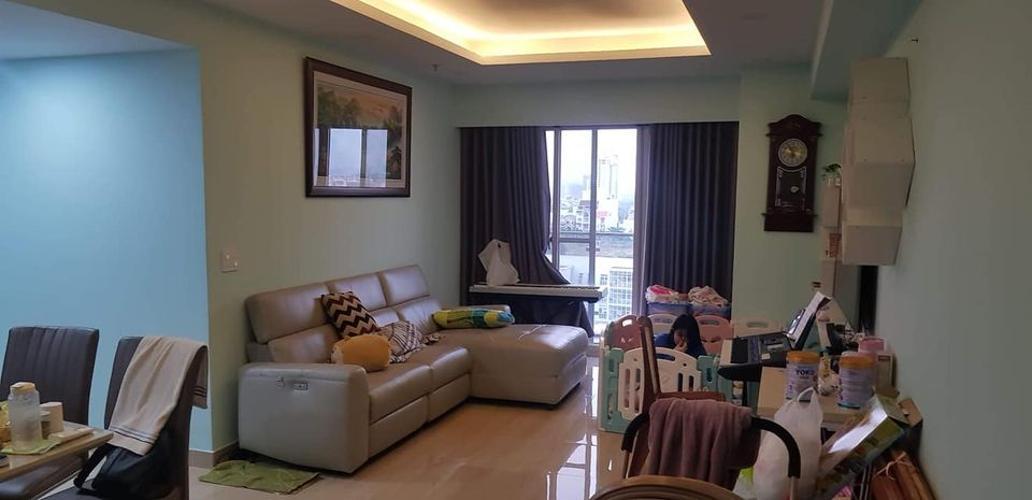 Căn hộ Cosmo City tầng 7 cửa hướng Tây Bắc, đầy đủ nội thất.