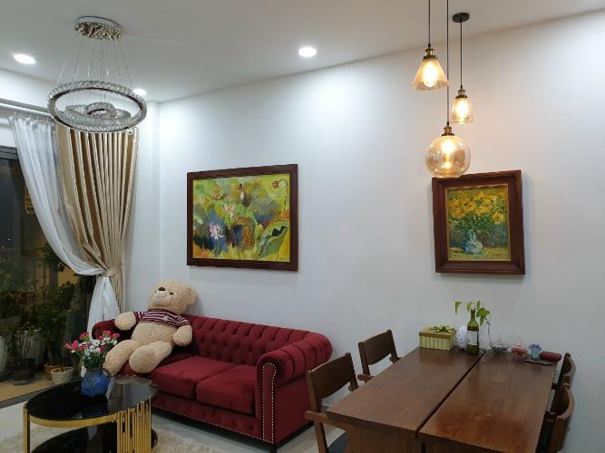 phòng khách căn hộ 2 phòng ngủ the sun avenue Căn hộ The Sun Avenue tầng cao, bàn giao đầy đủ nội thất.