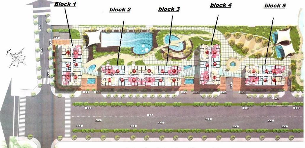 Mặt bằng Phú Hoàng Anh  Căn hộ Phú Hoàng Anh tầng cao, đầy đủ nội thất, view nội khu.