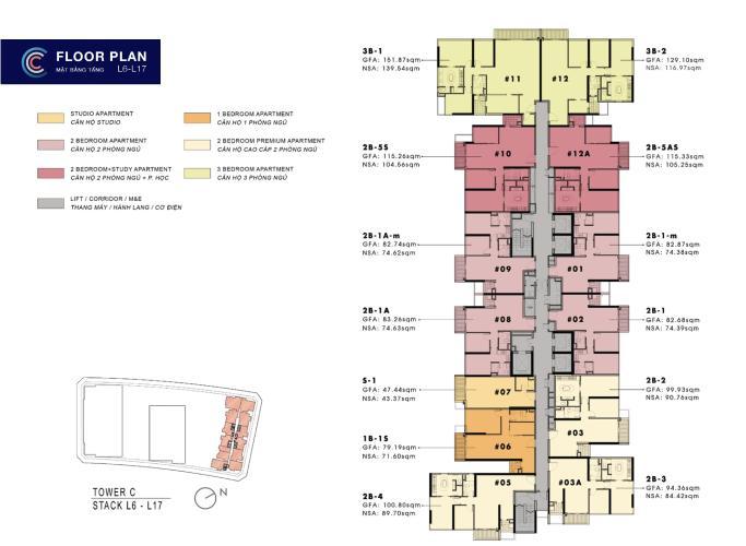 Căn hộ The Metropole Thủ Thiêm tầng 16 nội thất cơ bản, tiện ích đầy đủ.