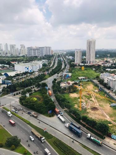 Bán office-tel tầng cao The Sun Avenue, view thành phố thoáng mát, nội thất cơ bản.