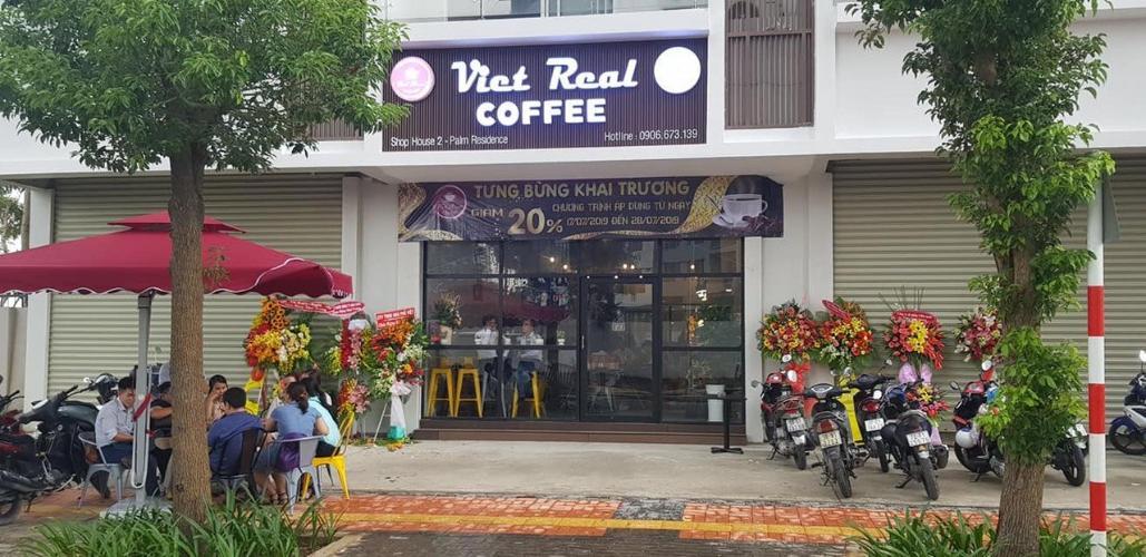 mặt bằng shop house Shophouse Palm Residences diện tích 96m2, kinh doanh quán cafe thuận tiện