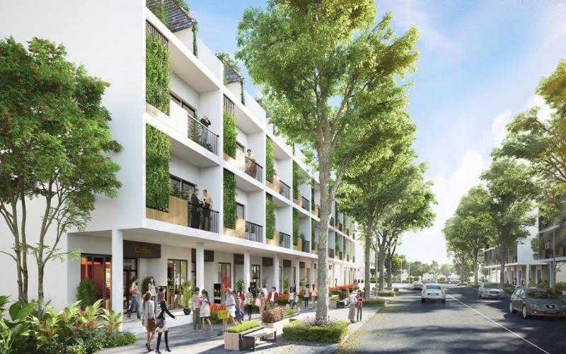Shophouse Charm City Shop-house Charm City hướng Đông Nam, diện tích 7mx10m.