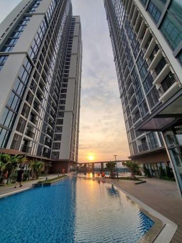 Eco Green Saigon Căn hộ Eco Green Saigon tầng trung, đầy đủ nội thất.