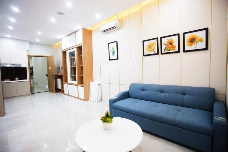 Nhà mẫu căn hộ Saigon Intela, Bình Chánh Căn hộ tầng cao Saigon Intale đầy đủ nội thất tiện nghi, hướng Nam.
