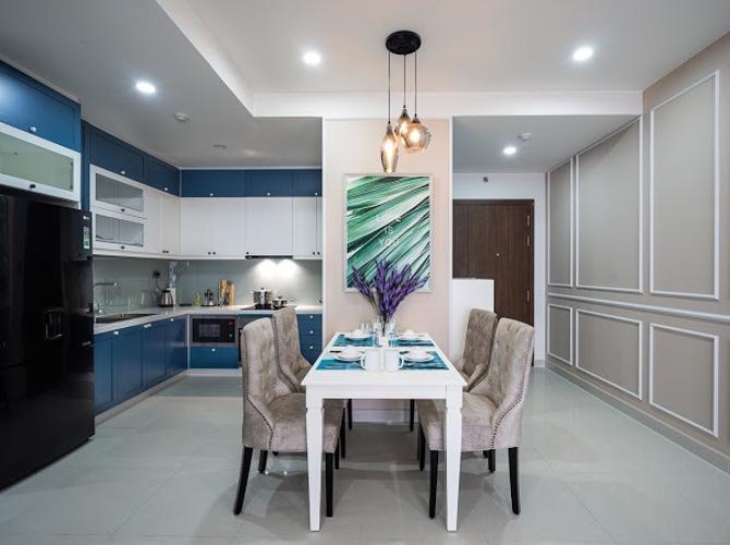 Phòng bếp Saigon Royal, Quận 4 Căn hộ Saigon Royal tầng cao đón view sông, đầy đủ nội thất.