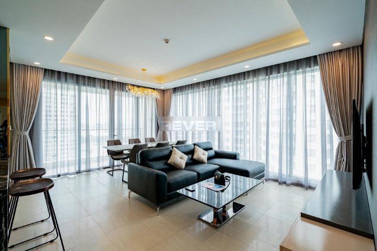 Căn hộ Đảo Kim Cương tầng 18 view sông thoáng mát, nội thất cơ bản.