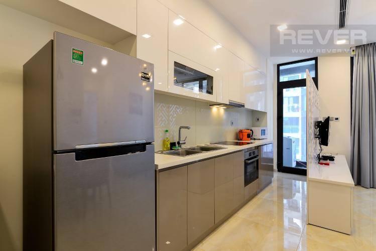 Phòng ăn và bếp căn hộ VINHOMES GOLDEN RIVER Bán căn hộ Vinhomes Golden River 1PN, tầng 6, đầy đủ nội thất, ban công Đông Bắc