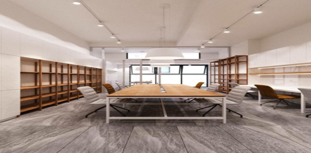 Office-tel The Sun Avenue tầng 2 thiết kế hiện đại, nội thất cơ bản.