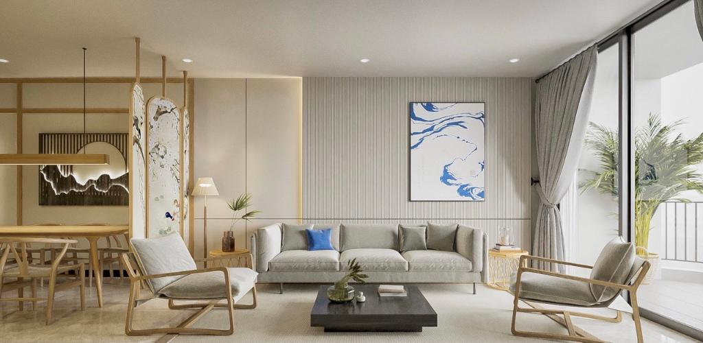 Căn hộ Waterina Suites đầy đủ nội thất, hướng Đông Nam.