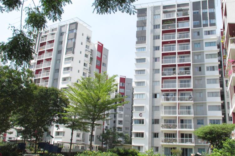 Căn hộ Celadon City, Quận Tân Phú Căn hộ Celadon City cửa hướng Tây Bắc thoáng mát, đầy đủ nội thất.
