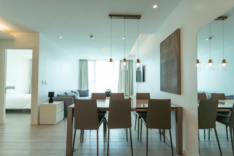 Căn hộ tầng 15 Léman Luxury Apartments view thoáng mát, đầy đủ nội thất.