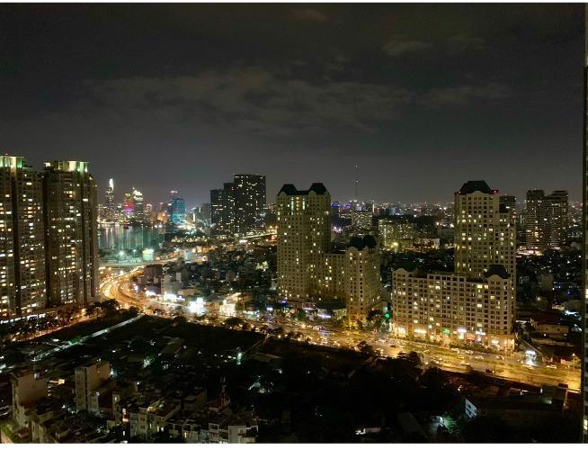 View hướng cửa sổ Vinhomes Central Park Căn hộ Vinhomes Central Park tầng cao, view hướng nội khu thoáng mát.
