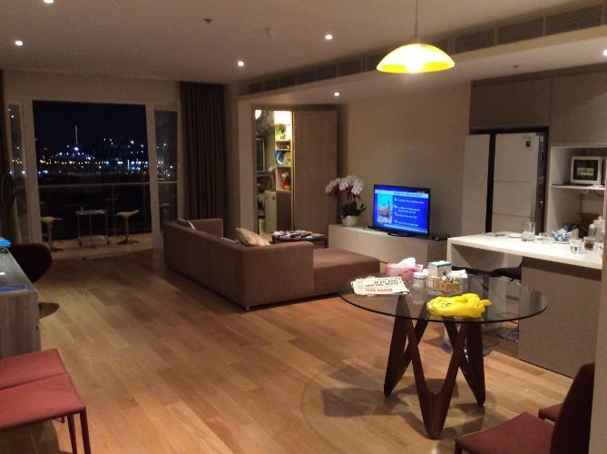 Phòng khách Đảo Kim Cương, Quận 2 Căn hộ Đảo Kim Cương view sông và thành phố, đầy đủ nội thất.