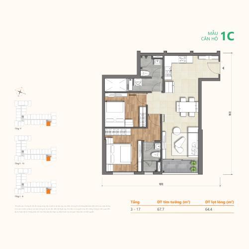 layout căn hộ Ricca Căn hộ Ricca nội thất cơ bản, gam màu trắng chủ đạo.