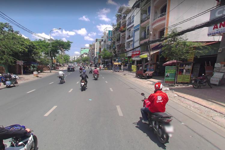 Đường nhà phố Đinh Bộ Lĩnh, Bình Thạnh Nhà phố hướng Đông, ngay mặt tiền gần ngã tư Nguyễn Xí.
