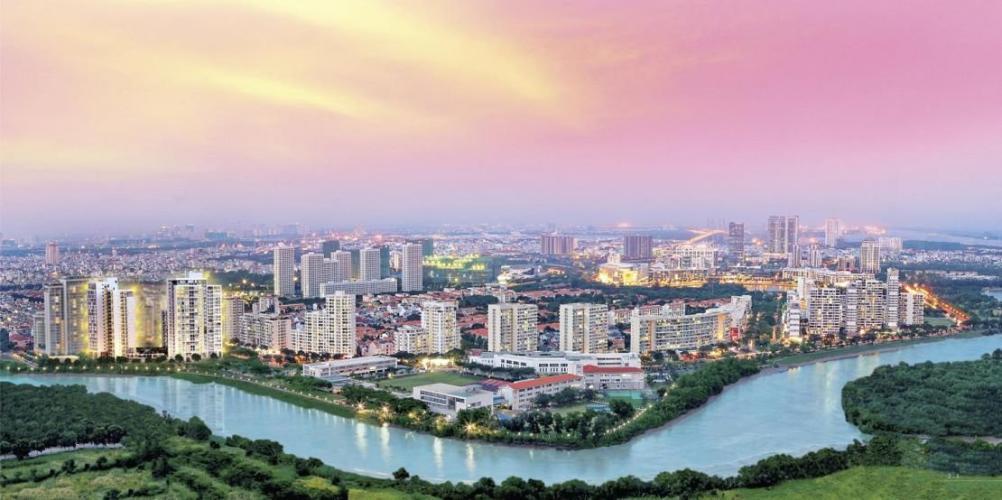 Saigon South Residence Nhà Bè  Căn hộ Saigon South Residence ban công hướng Đông Nam, thoáng mát.