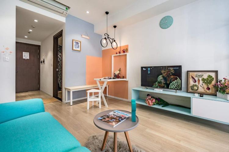 Phòng khách căn hộ The Tresor Căn hộ tầng thấp The Tresor nội thất sang trọng hiện đại.