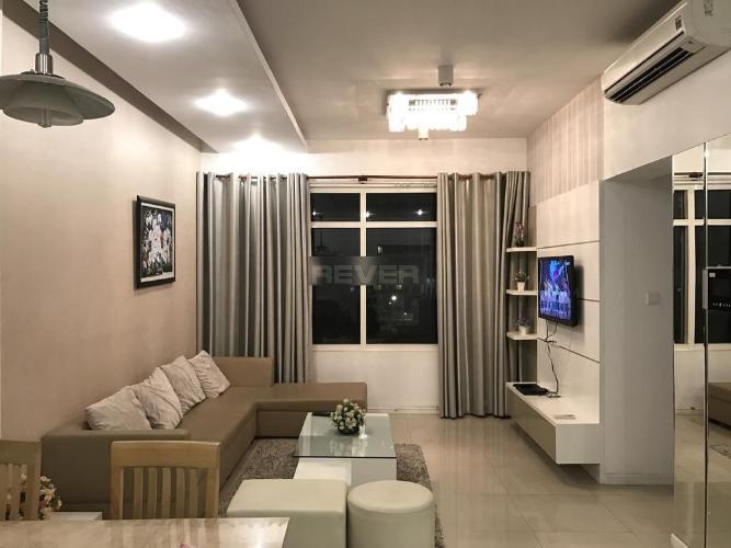Căn hộ Saigon Pearl tầng 17 view sông và thành phố, đầy đủ nội thất.