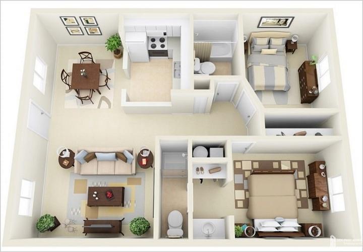 Căn hộ Vinhomes Grand Park tầng 5 thiết kế kỹ lưỡng, không nội thất.