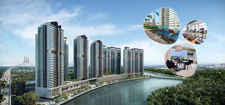 Building căn hộ The View Riviera Point Căn hộ tầng cao Riviera Point đầy đủ nội thất, ban công rộng view sông