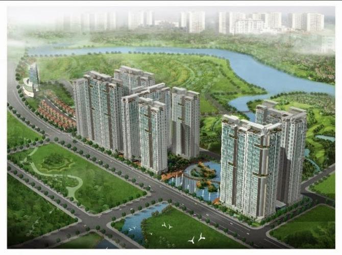 Phú Hoàng Anh, Nhà Bè Căn hộ Phú Hoàng Anh tầng cao, đầy đủ nội thất, view nội khu.