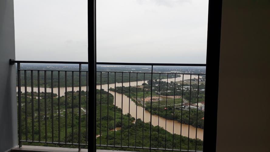 view Căn hộ VinHomes Grand Park quận 9 Căn hộ Vinhomes Grand Park tầng 23 không nội thất, view sông thoáng mát