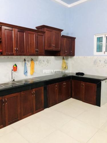Phòng bếp nhà phố Trương Đình Hội, Quận 8 Nhà phố diện tích 38.5m2, thiết kế kỹ lưỡng cùng gam màu xanh mát.
