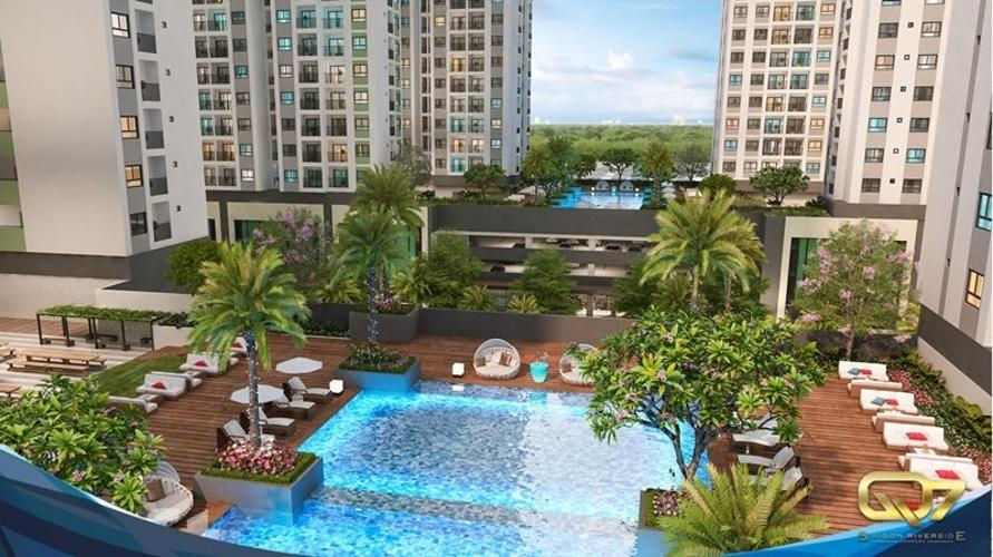 Tiện ích Q7 Sài Gòn Riverside Căn hộ Q7 Saigon Riverside tầng trung, ban công hướng Tây.