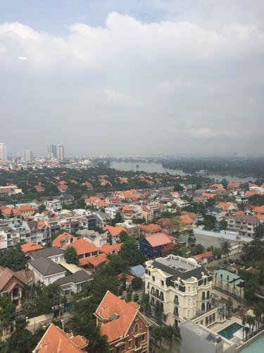 View ban công Masteri Thảo Điền Quận 2 Căn hộ Masteri Thảo Điền view thành phố và sông, hướng Tây.