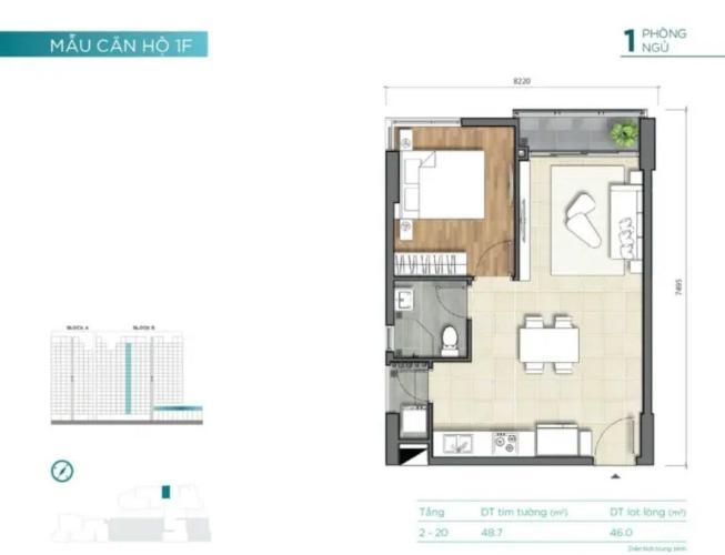 Căn hộ D'Lusso tầng cao thoáng mát, nội thất cơ bản.