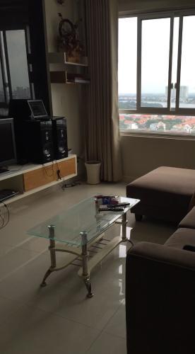 Phòng khách căn hộ Tropic Garden Căn hộ Tropic Garden tầng cao đầy đủ nội thất, tiện nghi cao cấp.
