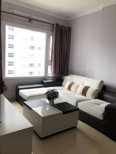 Phòng khách , Căn hộ Saigonres Plaza , Quận Bình Thạnh Căn hộ SaigonRes Plaza cửa hướng Tây Bắc, đầy đủ nội thất.