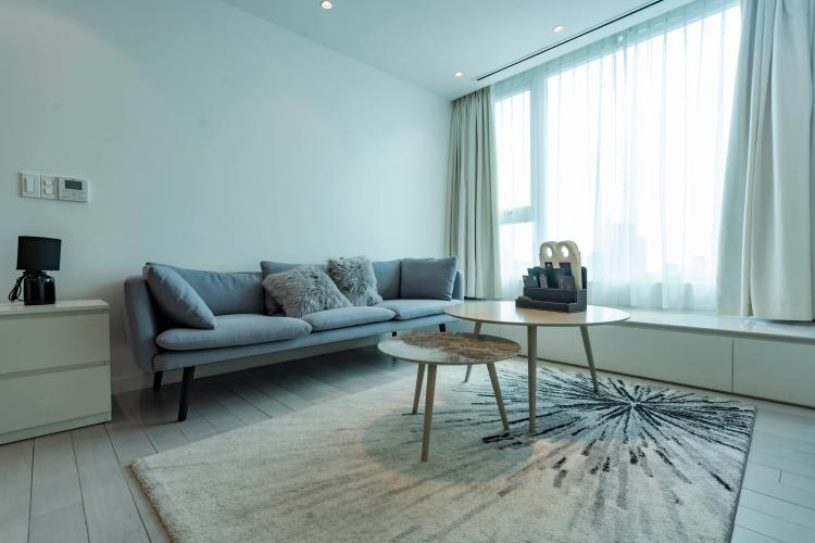 Phòng khách , Căn hộ Léman Luxury Apartment , Quận 3 Căn hộ tầng 15 Léman Luxury Apartments hướng Tây bắc, đầy đủ nội thất.