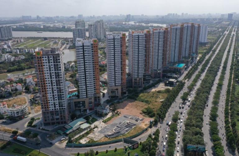 the sun avenue Căn hộ The Sun Avenue tầng cao, nội thất tiện nghi.