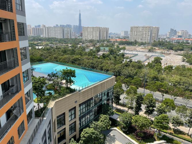 view cảnh căn hộ The Sun Avenue Căn hộ The Sun Avenue hướng  Tây Bắc, đầy đủ nội thất.
