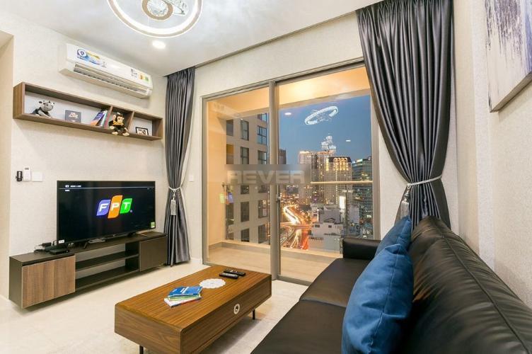 Căn hộ tầng cao Masteri Millennium hướng Tây Bắc, đầy đủ nội thất.
