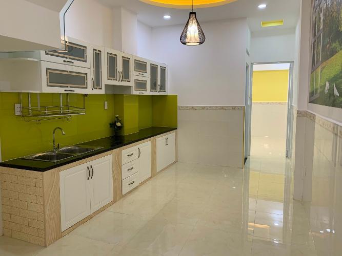 Bếp nhà phố Nhà phố Bình Thạnh diện tích đất 59m2, hẻm trước nhà 6m.