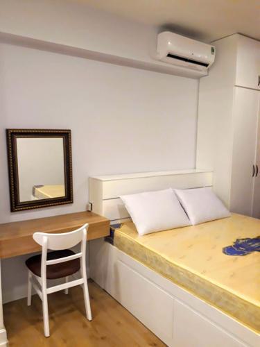 Phòng ngủ Icon 56, Quận 4 Căn hộ Icon 56 tầng trung, nội thất hiện đại tiện nghi.