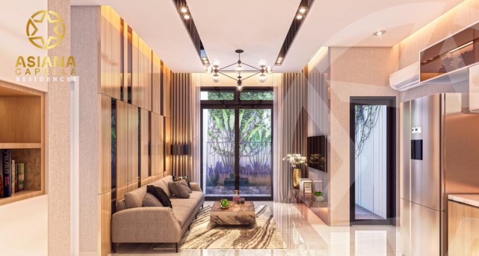 Phòng khách căn hộ Asiana Capella , Quận 6 Căn hộ Asiana Capella tầng trung mát mẽ, nội thất cơ bản.