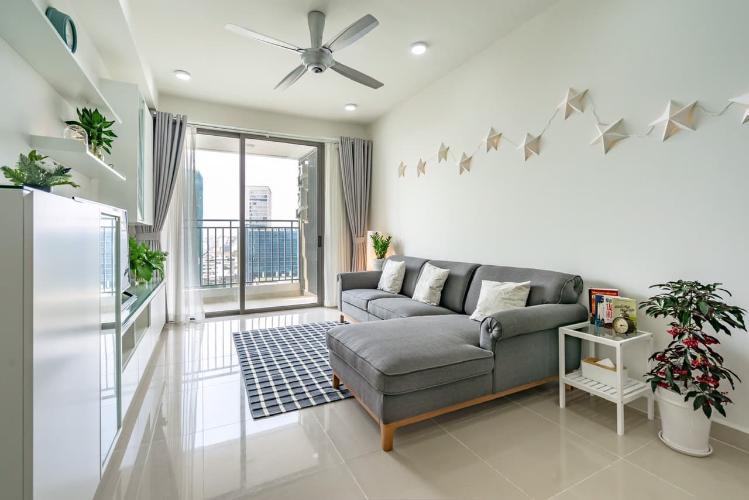 phòng khách căn hộ The Tresor Căn hộ tầng trung The Tresor thiết kế hiện đại, không gian thoáng mát
