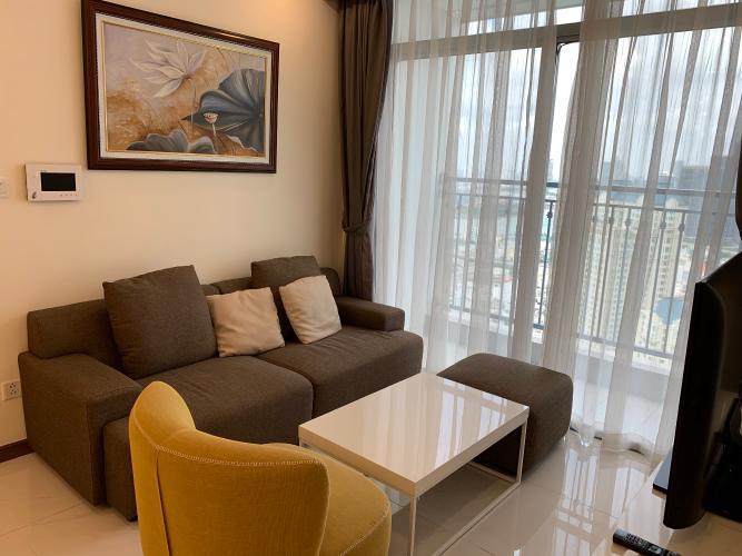 Phòng khách Căn hộ Vinhomes Central Park Căn hộ tầng 32 Vinhomes Central Park ban công Tây Nam