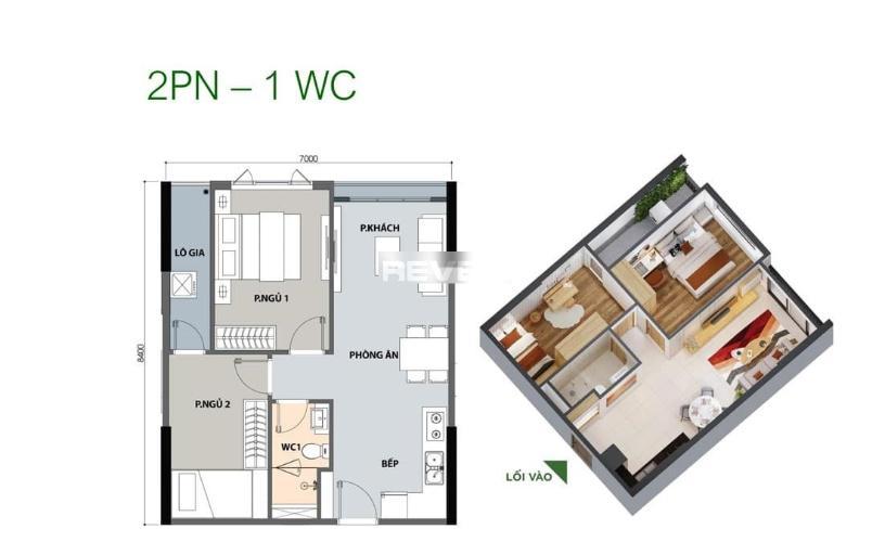 Căn hộ Picity High Park tầng 8 nội thất cơ bản, tiện ích đầy đủ.