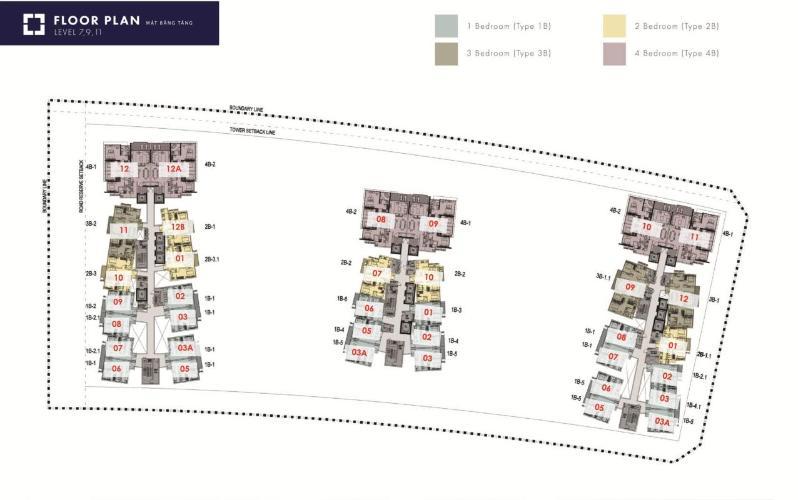 Căn hộ The Metropole Thủ Thiêm tầng 9 diện tích 69.57m2, nội thất cơ bản.
