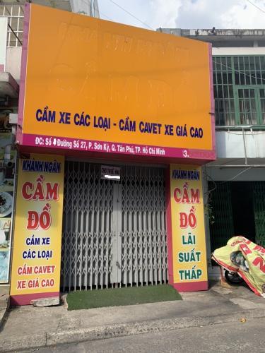 Mặt tiền nhà phố Quận Tân Phú Nhà phố mặt tiền đường Số 27 kết cấu 1 trệt 1 lửng, không có nội thất.