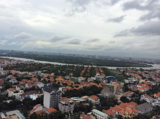 view căn hộ  2 phòng ngủ thảo điền pearl Căn hộ Thảo Điền Pearl tầng cao, đón view thành phố sầm uất