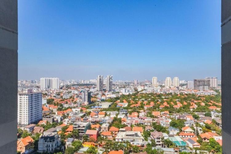 view cảnh căn hộ Masteri Thảo Điền Căn hộ Masteri Thảo Điền nội thất gỗ cao cấp, view Thảo Điền và sông.