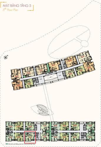 Layout Phú Mỹ Hưng Midtown Căn hộ Phú Mỹ Hưng Midtown tầng trung, view nội khu yên tĩnh.