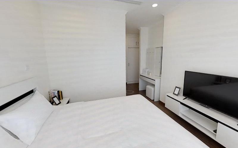 Phòng ngủ Vinhomes Central Park Căn hộ Vinhomes Central Park hướng Đông Bắc, nội thất đầy đủ.
