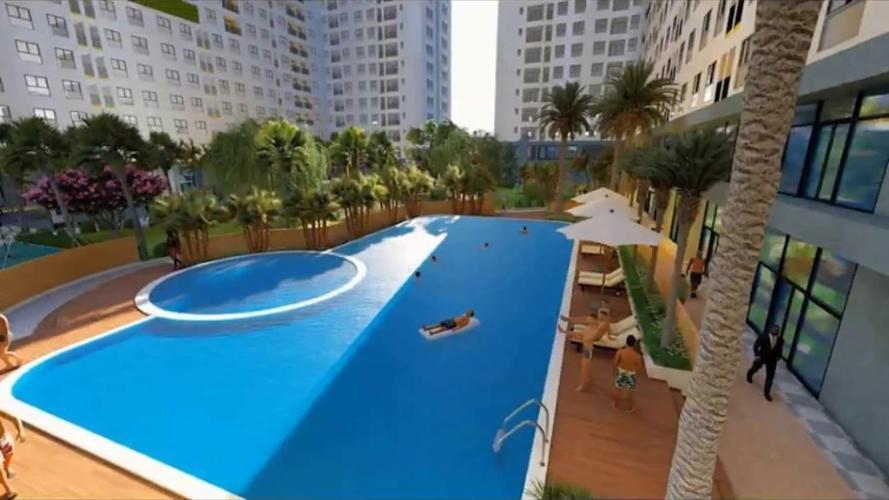 Hồ bơi Bcons Miền Đông Căn hộ Bcons Miền Đông tầng trung, nội thất cơ bản.